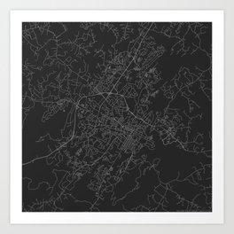 Charlottesville - Black and White Art Print