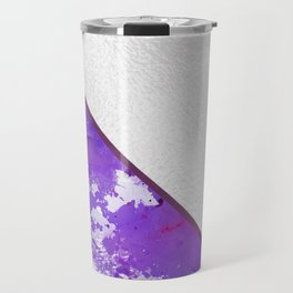 Abstract violet lilac white watercolor paint splatters Travel Mug