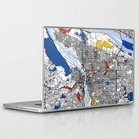 portland Laptop & iPad Skins featuring Portland by Mondrian Maps