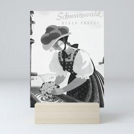 old Schwarzwald Black Forest poster vintage Poster Mini Art Print