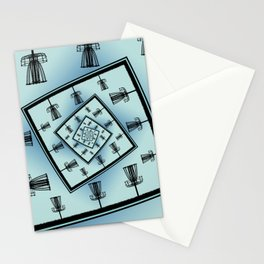 Spinning Disc Golf Baskets Stationery Cards