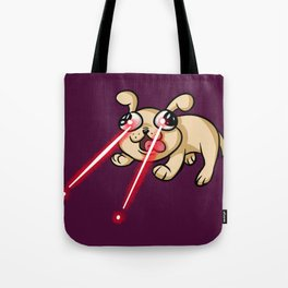 Laser Puppy Tote Bag