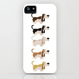 Basset Hound Colors Illustration iPhone Case
