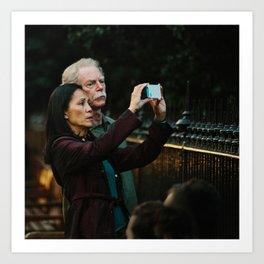 Donald & Lucy take photoraphs Art Print