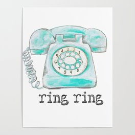 Vintage hone Ring Ring Poster