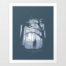 Ellie Hunting Art Print
