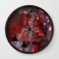 hindu Wall Clocks featuring Krishna Reprise - The Hindu God by sarvesh