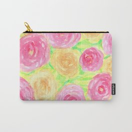 Peonies in Pink and Peach Carry-All Pouch