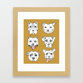Pittie Pittie Please! 2 Framed Art Print