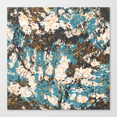 Bold abstract print for spring summer fashion Canvas Print
