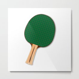 One Table Tennis Bats Metal Print
