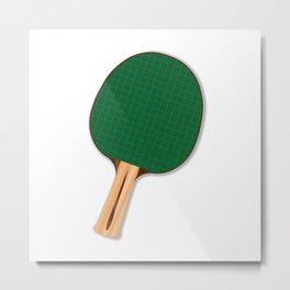 One Table Tennis Bats Metal Print