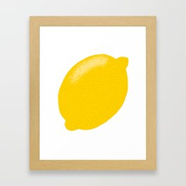 Yellow lemon citrus fruit hand drawn Framed Art Print