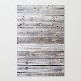 Gray Wood Canvas Print