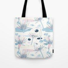 Waterlilies in pastels Tote Bag