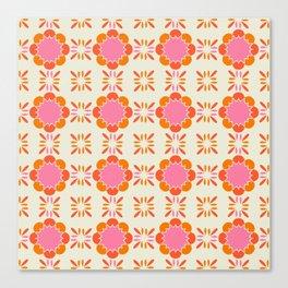 Sixties Tile Canvas Print