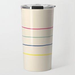 Abstract Retro Lines #1 Travel Mug