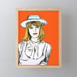 Pauline on Orange Framed Mini Art Print