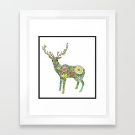 Stag Topiary Framed Art Print