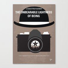 No408 My The Unbearable Lightness of Being minimal movie poster Canvas Print