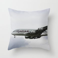 Qatar Airlines Airbus Throw Pillow