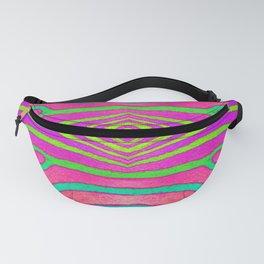Neon Zebra Pattern Fanny Pack