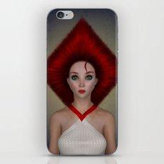Queen of diamonds portrait iPhone & iPod Skin