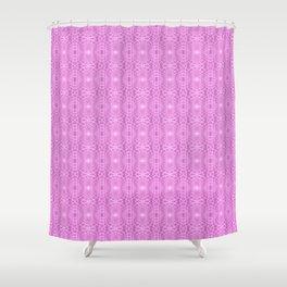 Pink Metallic Gossamer Web Digital Art Shower Curtain