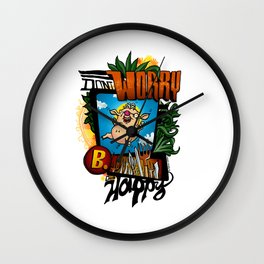 Don't worry, die happy! Wall Clock