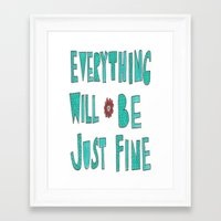 reassurance Framed Art Prints featuring Reassurance  by Jenna Elise