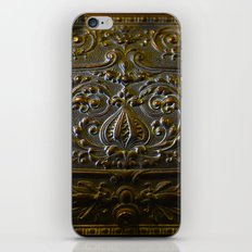 vintage metal decoration iPhone & iPod Skin
