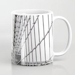 The Brooklyn Bridge and American Flag Coffee Mug