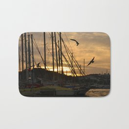 sunset in bodrum Bath Mat