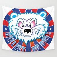 politics Wall Tapestries featuring Polar Bear Politics by Clore Concepts Chucks Stuff