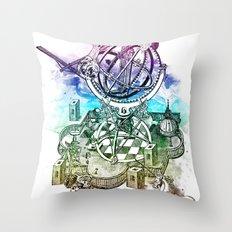 strange unicorn garden Throw Pillow
