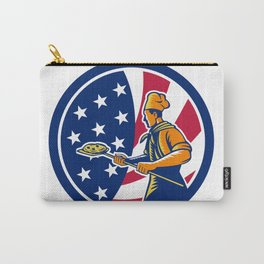 American Pizza Baker USA Flag Icon Carry-All Pouch