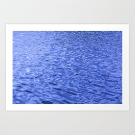 Rhythmic Blue Water Ripples In A Steady Wind Art Print