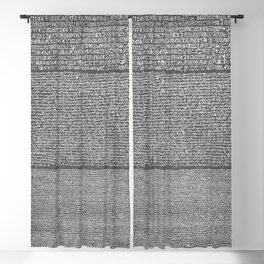 The Rosetta Stone // Charcoal Blackout Curtain