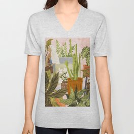 Playing For My Plants Unisex V-Neck