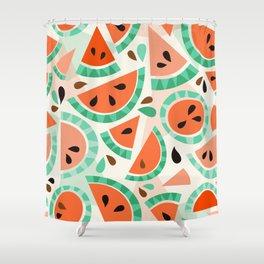 Watermelon festival Shower Curtain