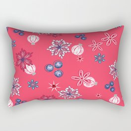 Berry Christmas pattern Rectangular Pillow