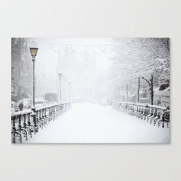 Winter Walk (Black and White) Canvas Print