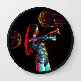 Rainbow Spell Wall Clock
