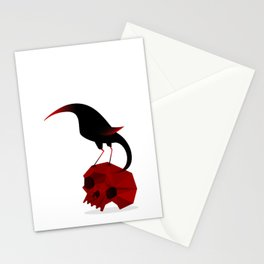 Bird and Skull Stationery Cards