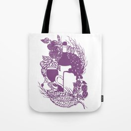 Hoops and grapes  Tote Bag