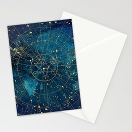 Star Map :: City Lights Stationery Cards