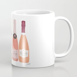 Rose Champagne Bottles Coffee Mug