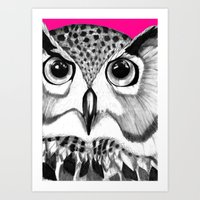 mysterious owl Art Print