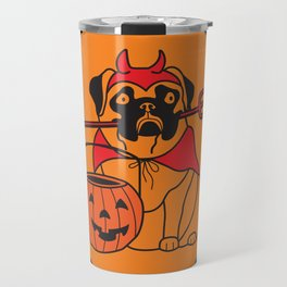 pumpkin pug Travel Mug
