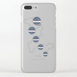 Highest Mountains on Earth Clear iPhone Case